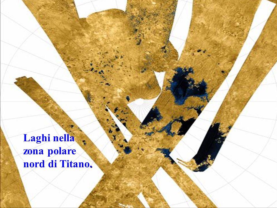 Laghi nella zona polare nord di Titano.