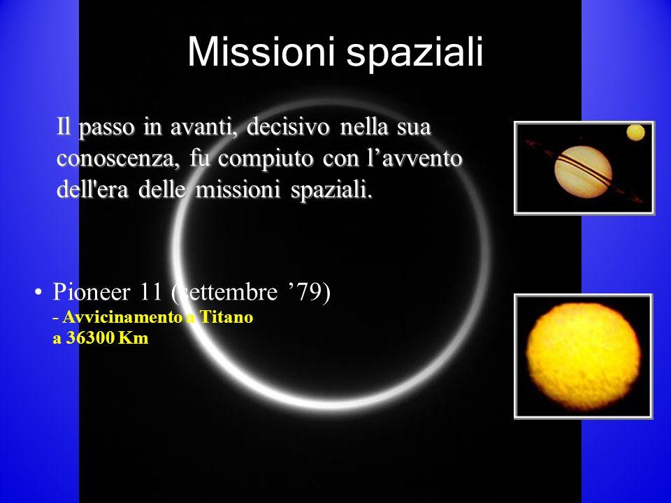 Missioni spaziali Il passo in avanti, decisivo nella sua conoscenza, fu compiuto con l'avvento dell era delle missioni spaziali.
