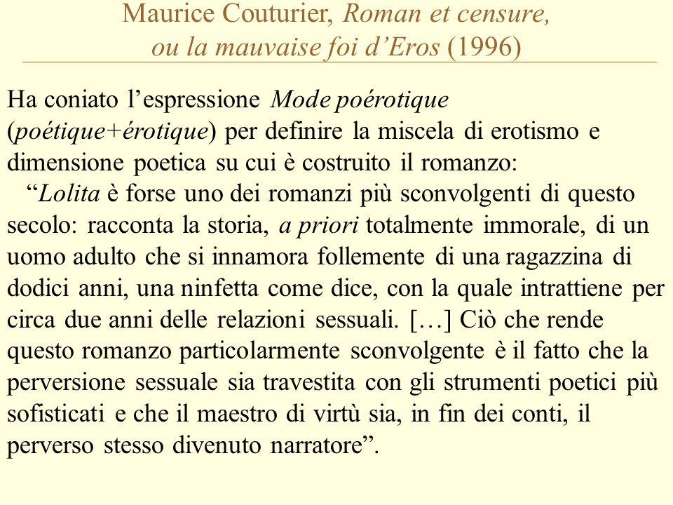 Maurice Couturier, Roman et censure, ou la mauvaise foi d'Eros (1996)