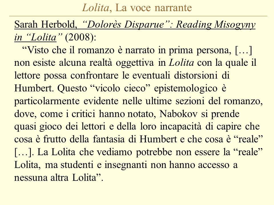 Lolita, La voce narrante
