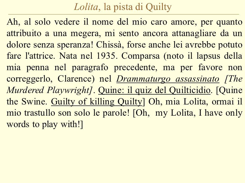 Lolita, la pista di Quilty