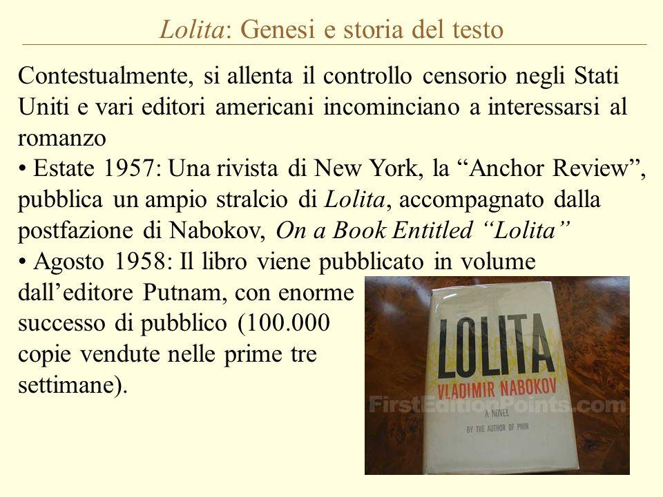 Lolita: Genesi e storia del testo