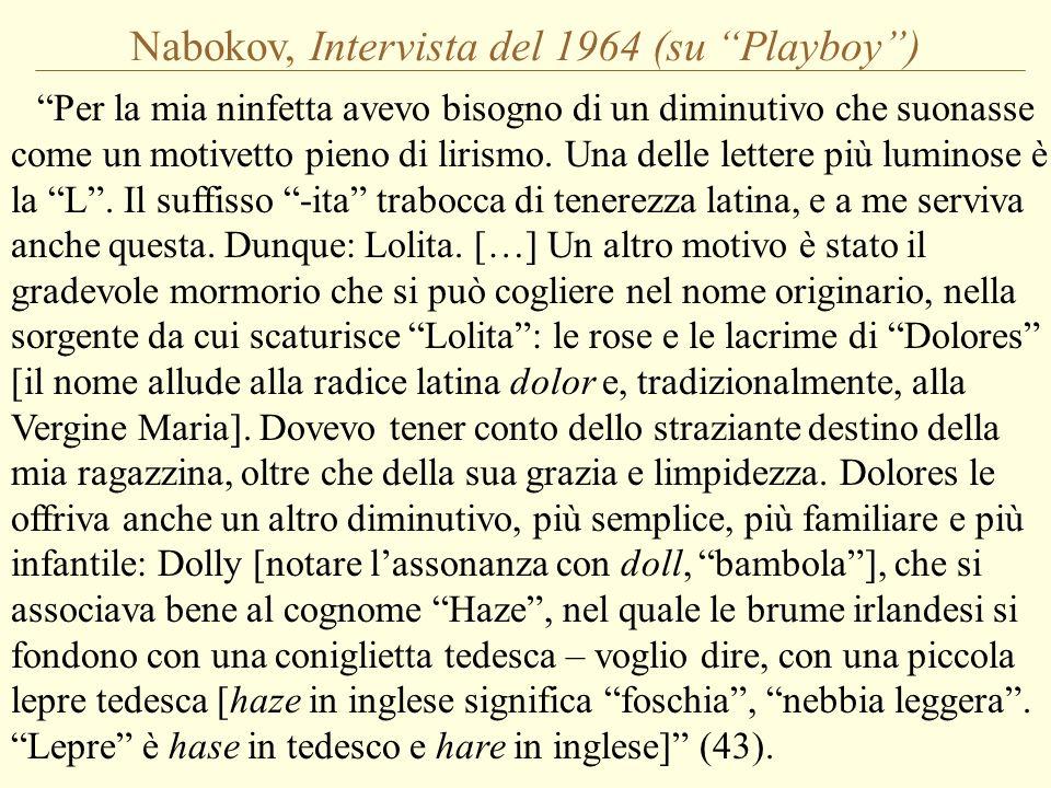 Nabokov, Intervista del 1964 (su Playboy )