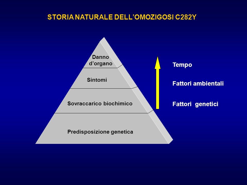 STORIA NATURALE DELL'OMOZIGOSI C282Y