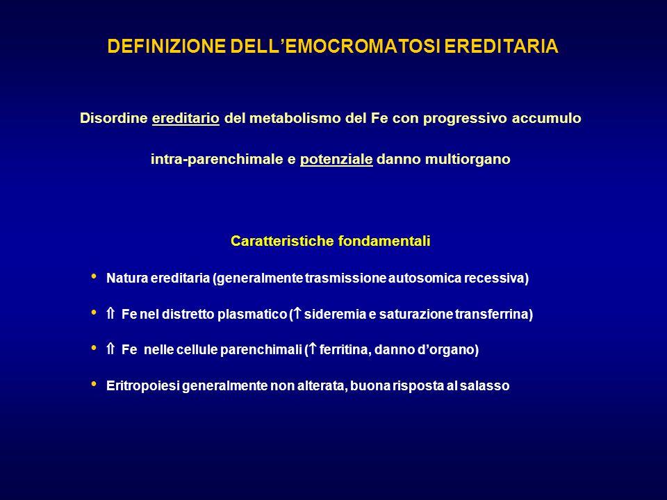 DEFINIZIONE DELL'EMOCROMATOSI EREDITARIA