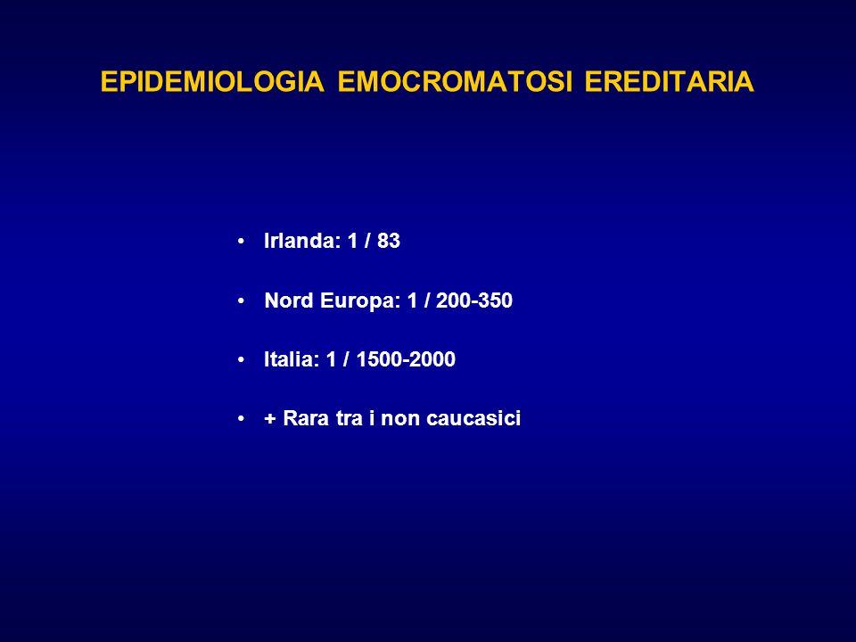 EPIDEMIOLOGIA EMOCROMATOSI EREDITARIA