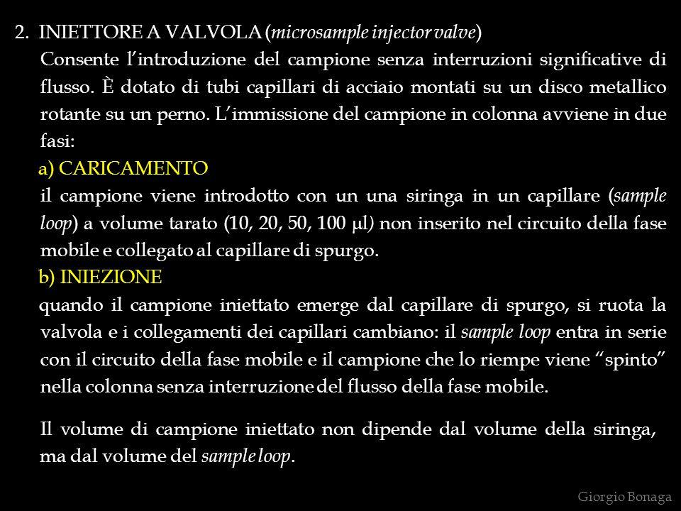 2. INIETTORE A VALVOLA (microsample injector valve)