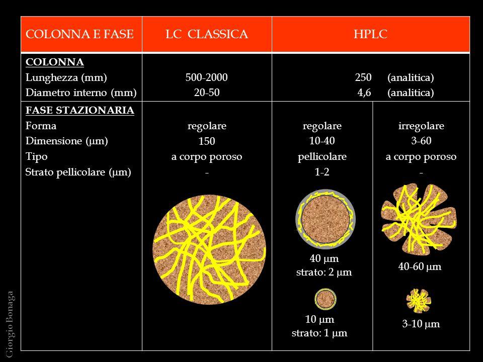 COLONNA E FASE LC CLASSICA HPLC COLONNA Lunghezza (mm)