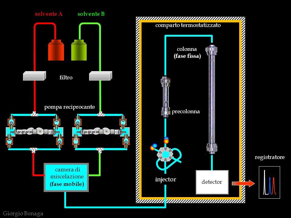 . detector colonna camera di injector solvente A solvente B