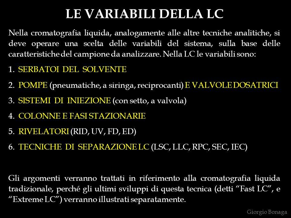 LE VARIABILI DELLA LC