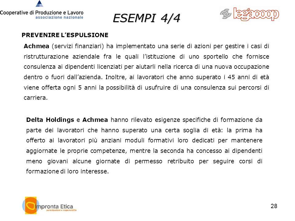 ESEMPI 4/4 PREVENIRE L'ESPULSIONE