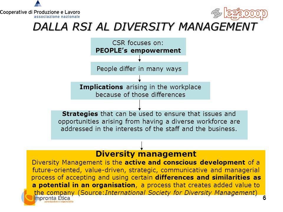 DALLA RSI AL DIVERSITY MANAGEMENT