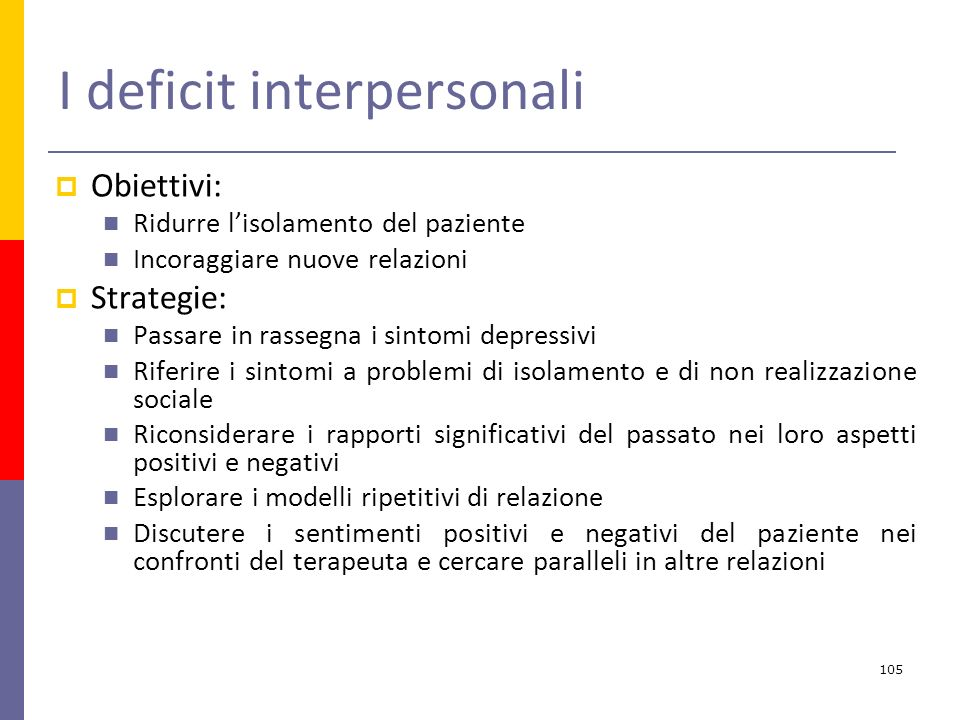 I deficit interpersonali