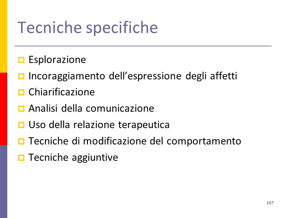 Tecniche specifiche Esplorazione