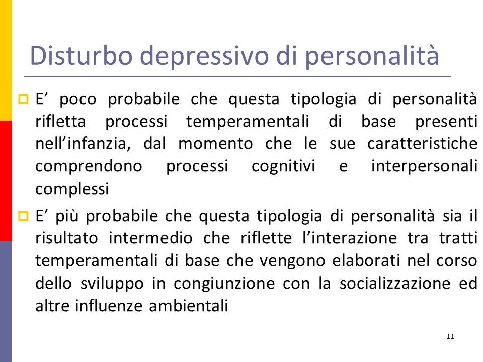 Disturbo depressivo di personalità