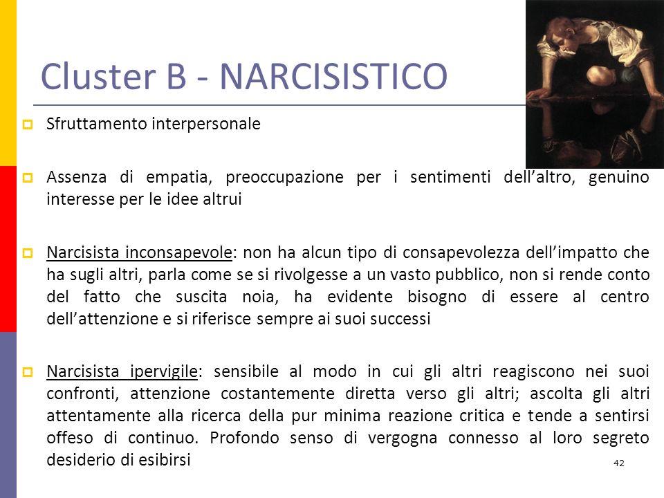 Cluster B - NARCISISTICO