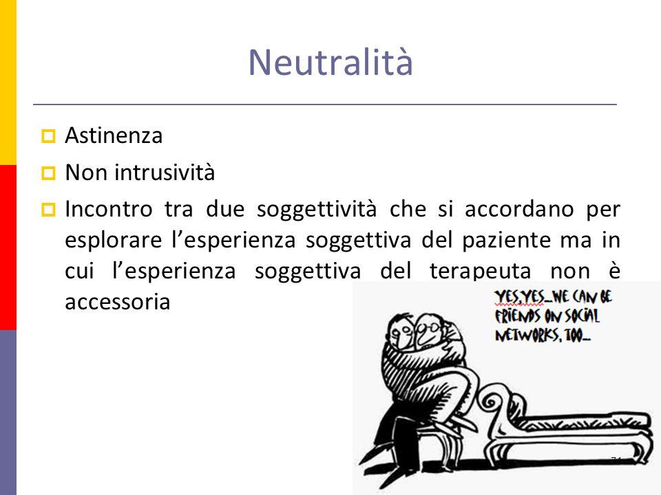 Neutralità Astinenza Non intrusività