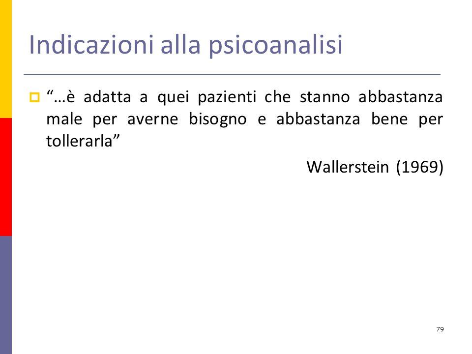 Indicazioni alla psicoanalisi