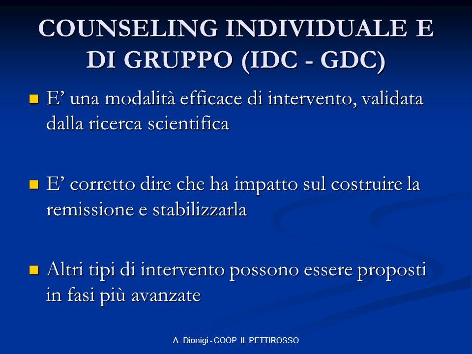 COUNSELING INDIVIDUALE E DI GRUPPO (IDC - GDC)
