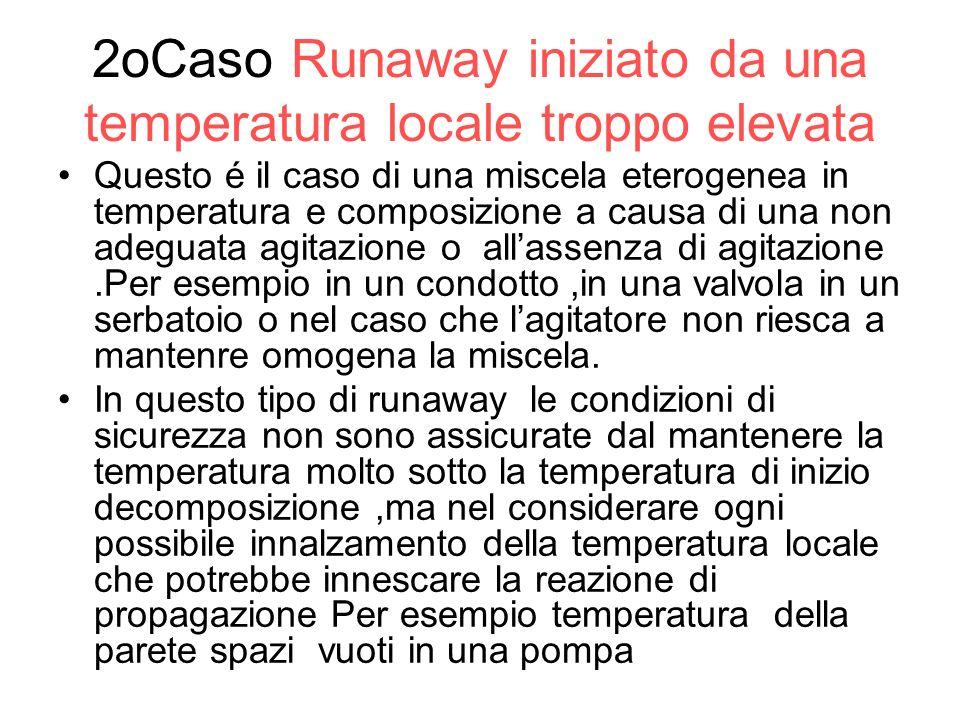2oCaso Runaway iniziato da una temperatura locale troppo elevata