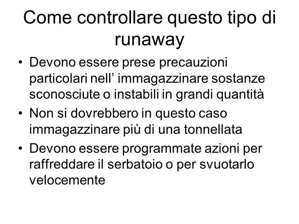 Come controllare questo tipo di runaway