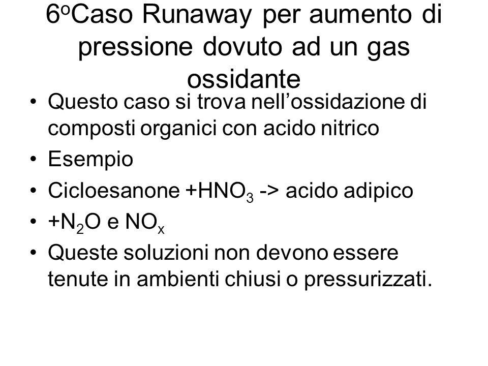 6oCaso Runaway per aumento di pressione dovuto ad un gas ossidante