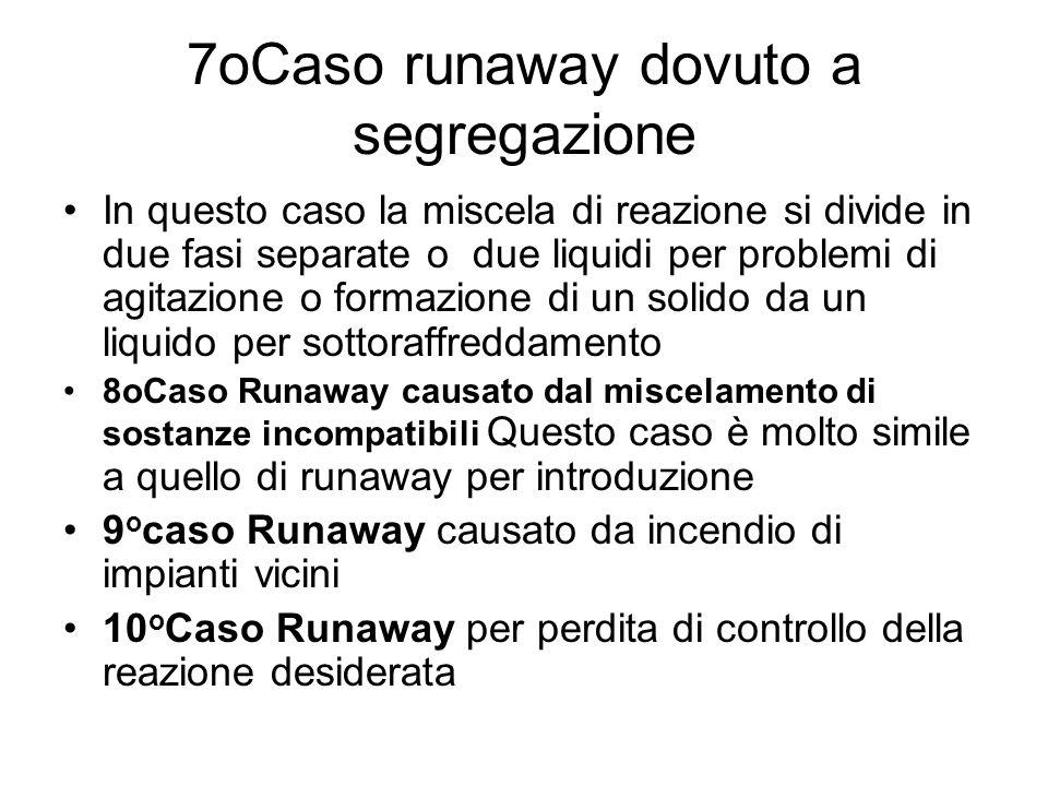 7oCaso runaway dovuto a segregazione
