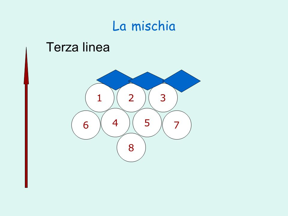 La mischia Terza linea 1 2 3 4 5 6 7 8