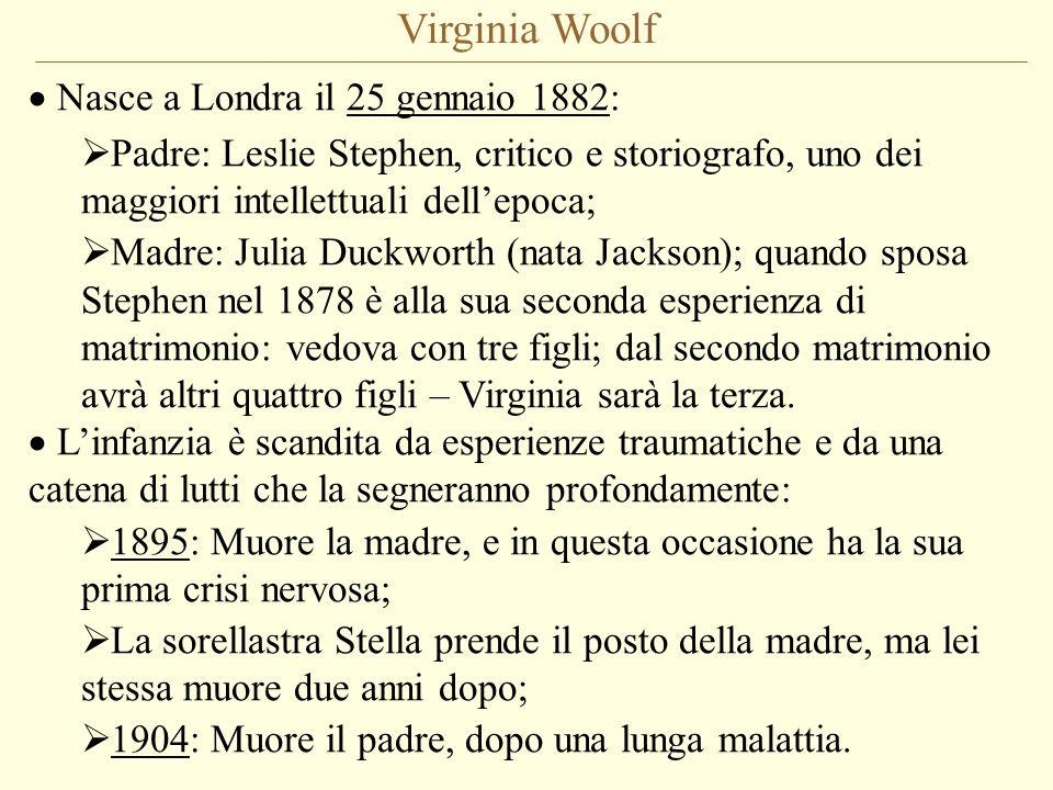 Virginia Woolf Nasce a Londra il 25 gennaio 1882: