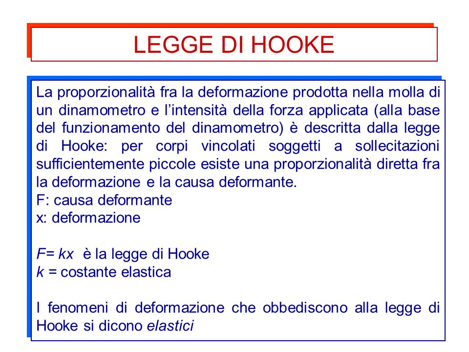 LEGGE DI HOOKE