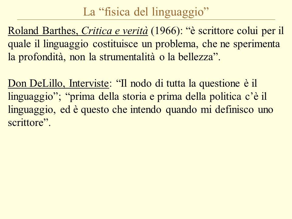 La fisica del linguaggio