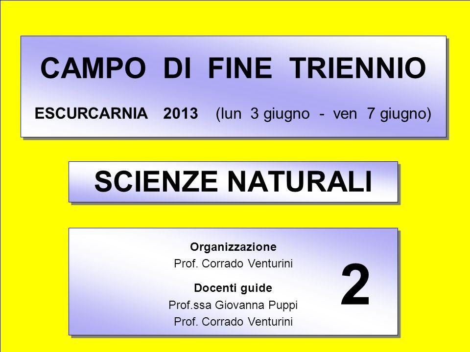 CAMPO DI FINE TRIENNIO ESCURCARNIA 2013 (lun 3 giugno - ven 7 giugno)