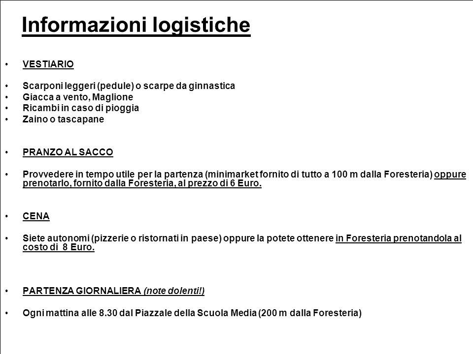 Informazioni logistiche