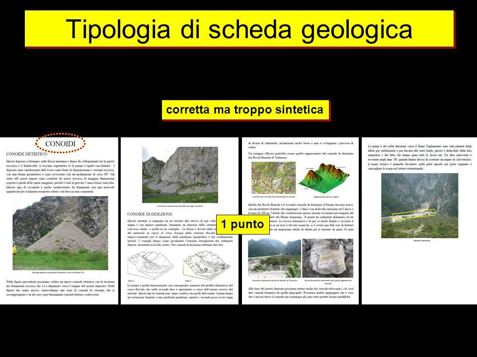 Tipologia di scheda geologica