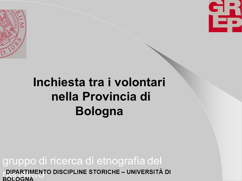 Inchiesta tra i volontari nella Provincia di Bologna