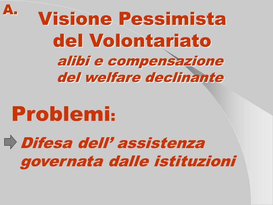 del welfare declinante