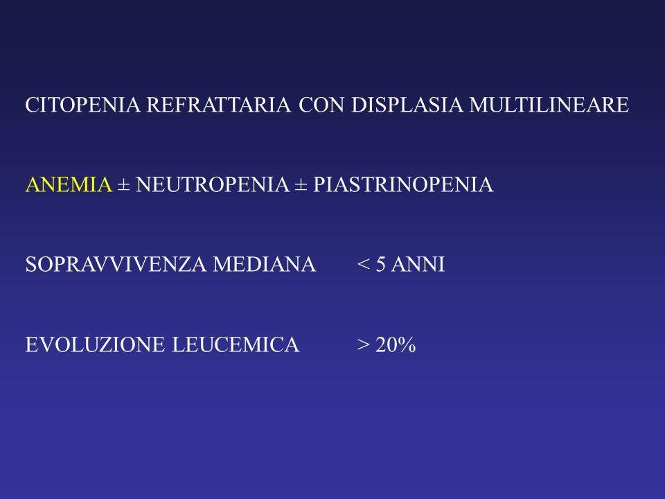CITOPENIA REFRATTARIA CON DISPLASIA MULTILINEARE