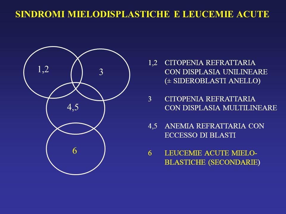 SINDROMI MIELODISPLASTICHE E LEUCEMIE ACUTE