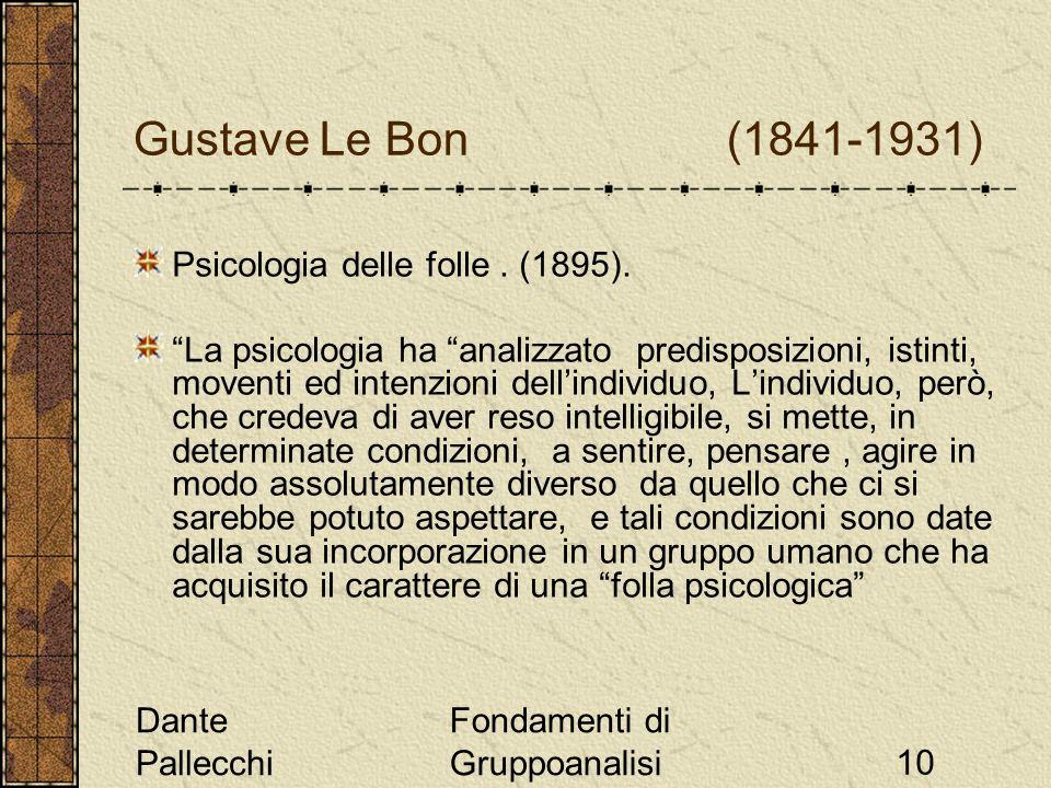 Gustave Le Bon (1841-1931) Psicologia delle folle . (1895).