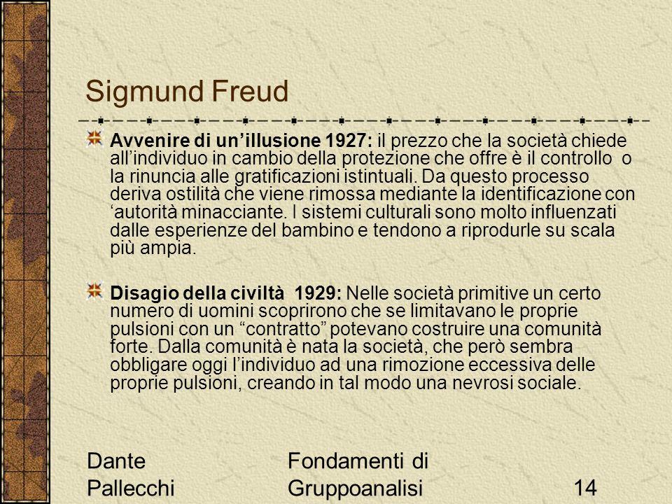 Sigmund Freud Dante Pallecchi Fondamenti di Gruppoanalisi