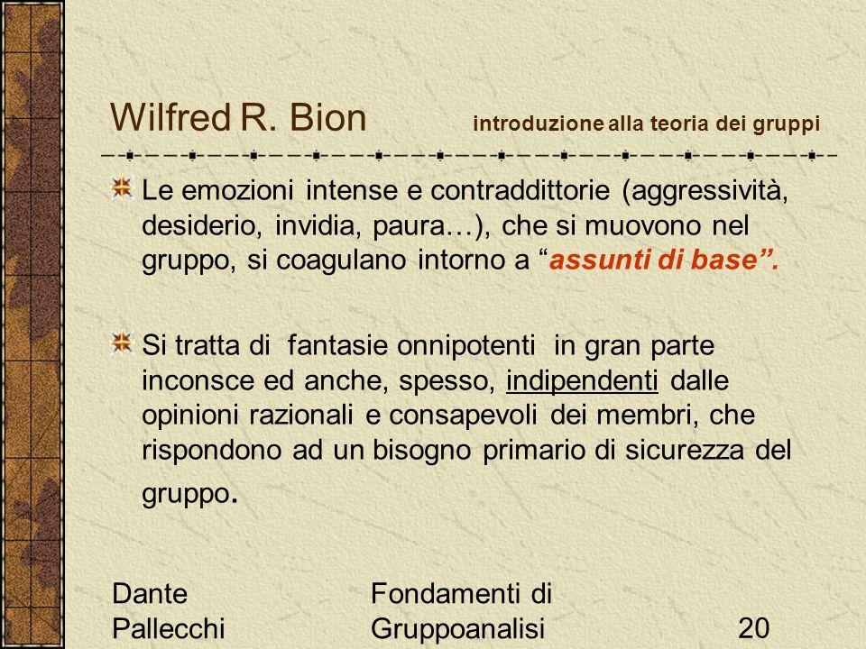 Wilfred R. Bion introduzione alla teoria dei gruppi