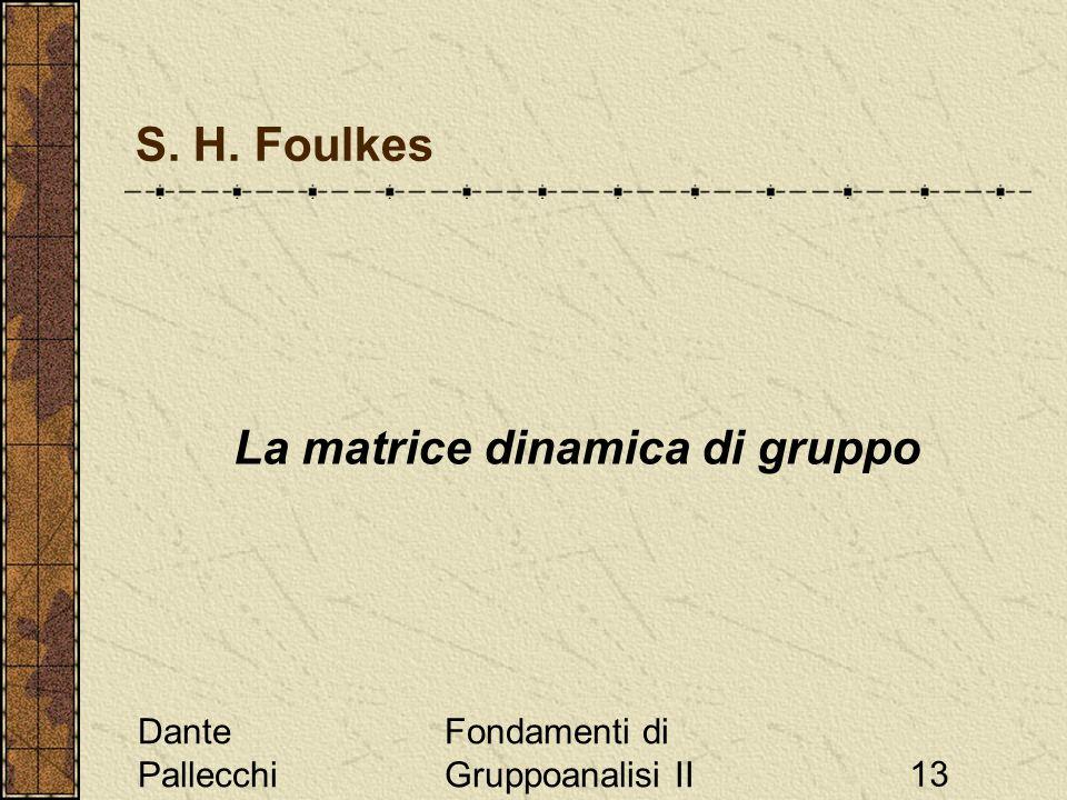 La matrice dinamica di gruppo