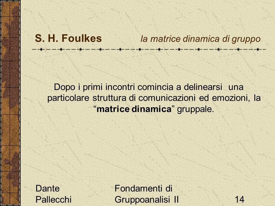 S. H. Foulkes la matrice dinamica di gruppo