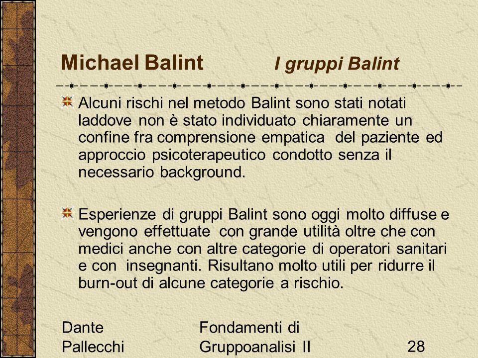 Michael Balint I gruppi Balint