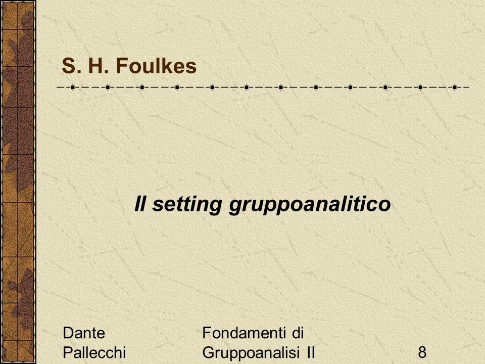 Il setting gruppoanalitico