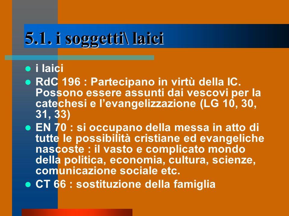 5.1. i soggetti\ laici i laici