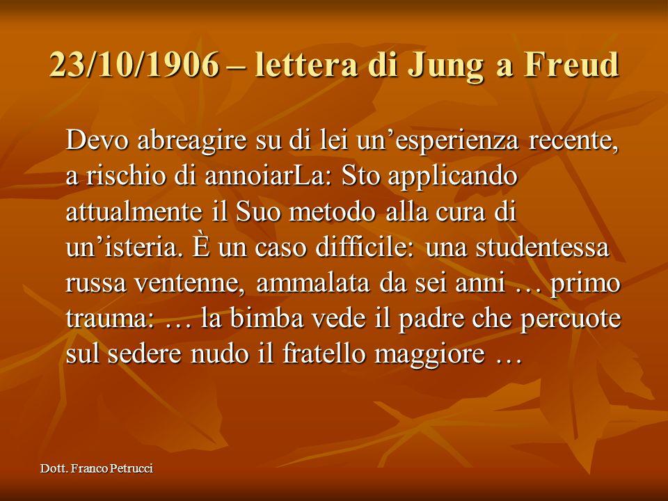 23/10/1906 – lettera di Jung a Freud