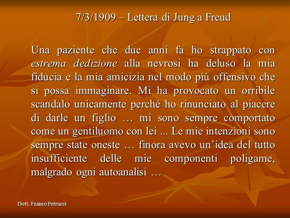 7/3/1909 – Lettera di Jung a Freud