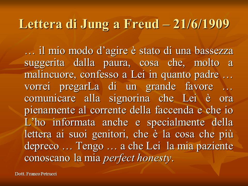 Lettera di Jung a Freud – 21/6/1909