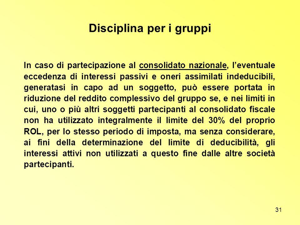 Disciplina per i gruppi
